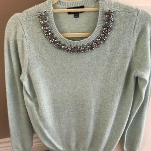 TOPSHOP sweater with embellished neckline